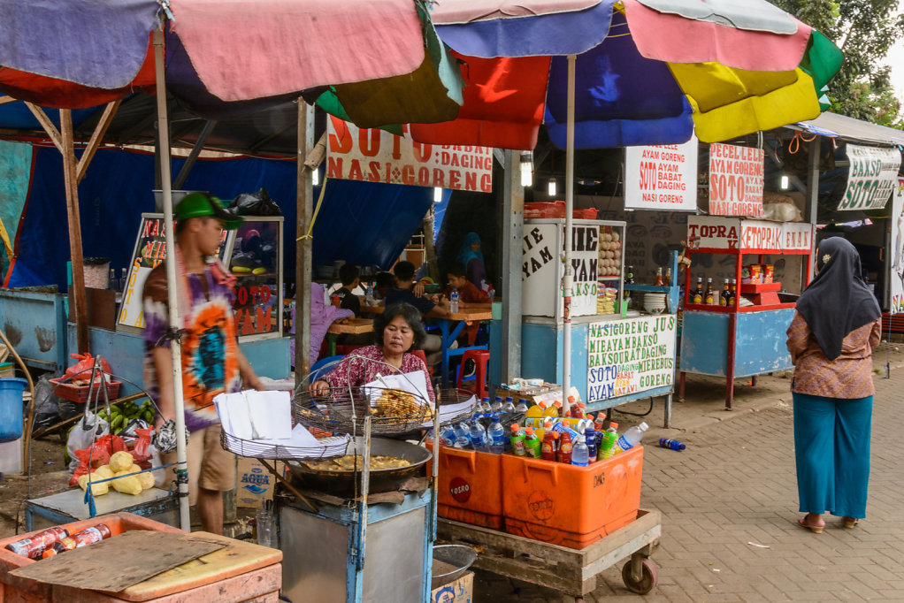 Food and Souvenirs for Sale near Monas, Jakarta.