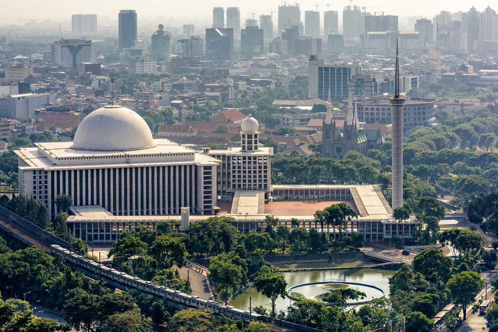 View from Monas on Istiqlal Mosque